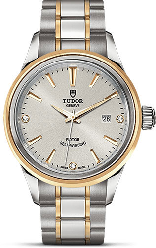 Tudor Watches - Style 28 mm - Steel and Gold - Double Bezel - Bracelet - Style No: M12103-0005