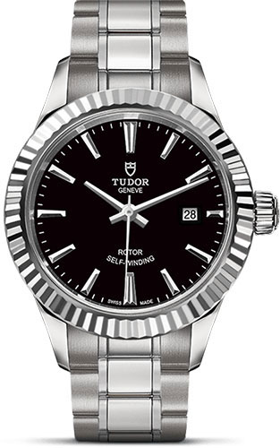 Tudor Watches - Style 28 mm - Steel - Fluted Bezel - Bracelet - Style No: M12110-0003