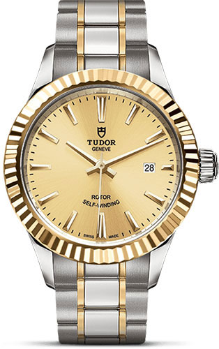 Tudor Watches - Style 28 mm - Steel and Gold - Fluted Bezel - Bracelet - Style No: M12113-0001