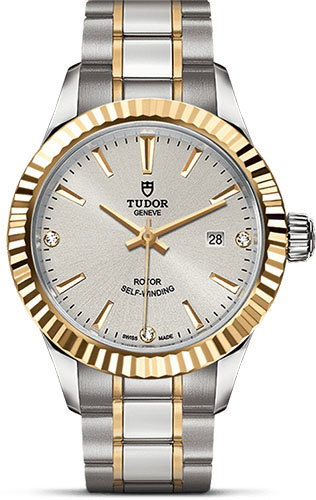 Tudor Watches - Style 28 mm - Steel and Gold - Fluted Bezel - Bracelet - Style No: M12113-0009
