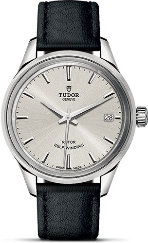 Tudor Watches - Style 34 mm - Steel - Double Bezel - Leather Strap - Style No: M12300-0005