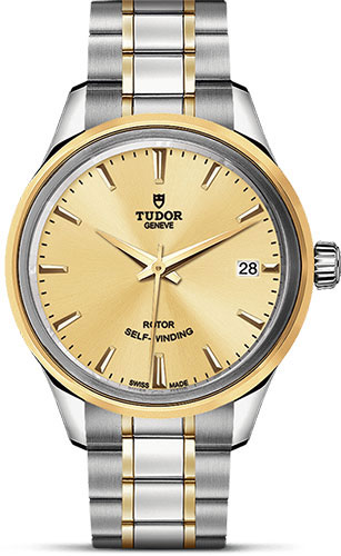 Tudor Watches - Style 34 mm - Steel and Gold - Double Bezel - Bracelet - Style No: M12303-0001
