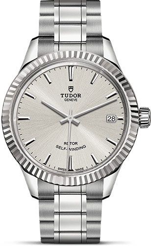 Tudor Watches - Style 34 mm - Steel - Fluted Bezel - Bracelet - Style No: M12310-0001