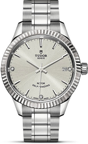 Tudor Watches - Style 34 mm - Steel - Fluted Bezel - Bracelet - Style No: M12310-0007