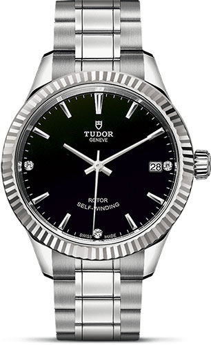 Tudor Watches - Style 34 mm - Steel - Fluted Bezel - Bracelet - Style No: M12310-0009