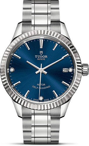 Tudor Watches - Style 34 mm - Steel - Fluted Bezel - Bracelet - Style No: M12310-0017