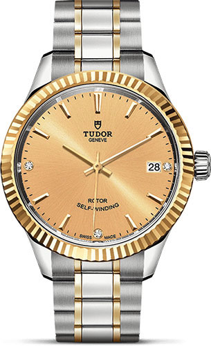 Tudor Watches - Style 34 mm - Steel and Gold - Fluted Bezel - Bracelet - Style No: M12313-0007