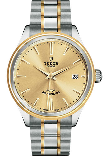 Tudor Watches - Style 38 mm - Steel and Gold - Double Bezel - Bracelet - Style No: M12503-0001