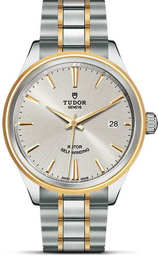 Tudor Watches - Style 38 mm - Steel and Gold - Double Bezel - Bracelet - Style No: M12503-0002