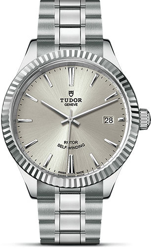 Tudor Watches - Style 38 mm - Steel - Fluted Bezel - Bracelet - Style No: M12510-0001
