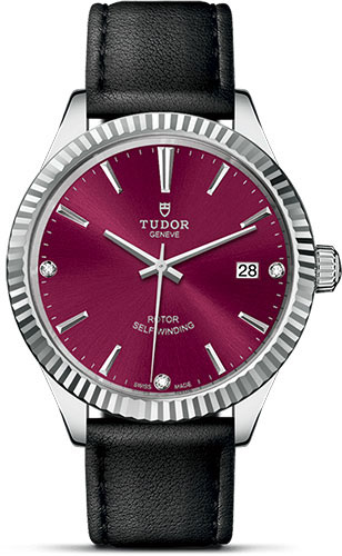 Tudor Watches - Style 38 mm - Steel - Fluted Bezel - Leather Strap - Style No: M12510-0030
