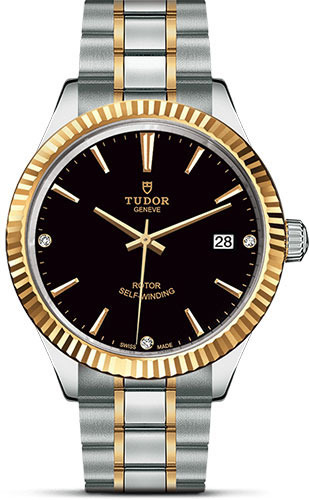 Tudor Watches - Style 38 mm - Steel and Gold - Fluted Bezel - Bracelet - Style No: M12513-0011