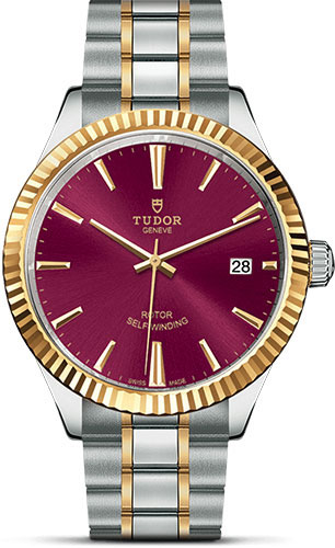 Tudor Watches - Style 38 mm - Steel and Gold - Fluted Bezel - Bracelet - Style No: M12513-0013