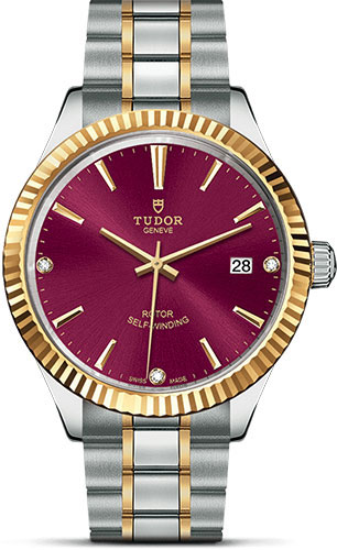 Tudor Watches - Style 38 mm - Steel and Gold - Fluted Bezel - Bracelet - Style No: M12513-0015