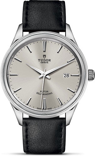 Tudor Watches - Style 41 mm - Steel - Double Bezel - Leather Strap - Style No: M12700-0005
