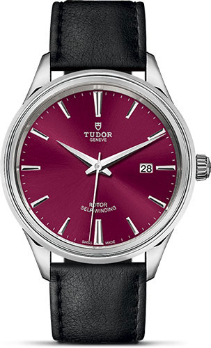 Tudor Watches - Style 41 mm - Steel - Double Bezel - Leather Strap - Style No: M12700-0012