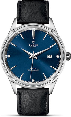 Tudor Watches - Style 41 mm - Steel - Double Bezel - Leather Strap - Style No: M12700-0014