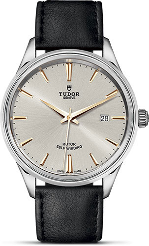 Tudor Watches - Style 41 mm - Steel - Double Bezel - Leather Strap - Style No: M12700-0018