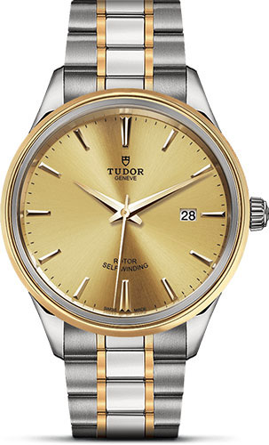 Tudor Watches - Style 41 mm - Steel and Gold - Double Bezel - Bracelet - Style No: M12703-0001