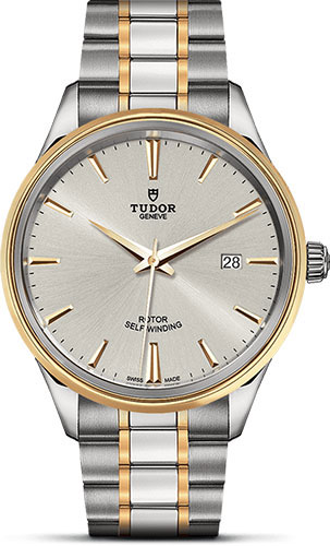 Tudor Watches - Style 41 mm - Steel and Gold - Double Bezel - Bracelet - Style No: M12703-0002