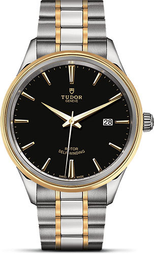 Tudor Watches - Style 41 mm - Steel and Gold - Double Bezel - Bracelet - Style No: M12703-0003