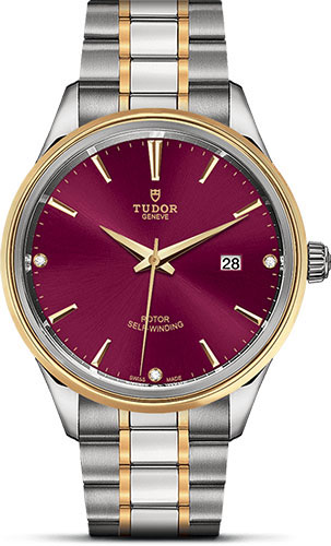 Tudor Watches - Style 41 mm - Steel and Gold - Double Bezel - Bracelet - Style No: M12703-0015