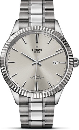Tudor Watches - Style 41 mm - Steel - Fluted Bezel - Bracelet - Style No: M12710-0001