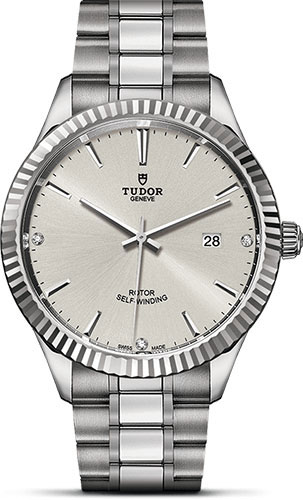 Tudor Watches - Style 41 mm - Steel - Fluted Bezel - Bracelet - Style No: M12710-0007