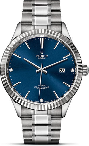 Tudor Watches - Style 41 mm - Steel - Fluted Bezel - Bracelet - Style No: M12710-0017