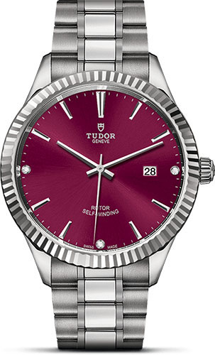 Tudor Watches - Style 41 mm - Steel - Fluted Bezel - Bracelet - Style No: M12710-0019