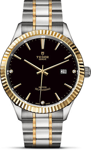 Tudor Watches - Style 41 mm - Steel and Gold - Fluted Bezel - Bracelet - Style No: M12713-0011