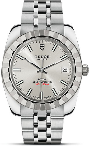 Tudor Watches - Classic Date 38 mm - Steel - Fluted Bezel - Style No: M21010-0004