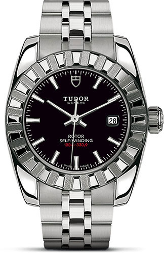 Tudor Watches - Classic Date 28 mm - Steel - Fluted Bezel - Style No: M22010-0001