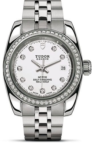 Tudor Watches - Classic Date 28 mm - Steel - Diamond Bezel - Style No: M22020-0001