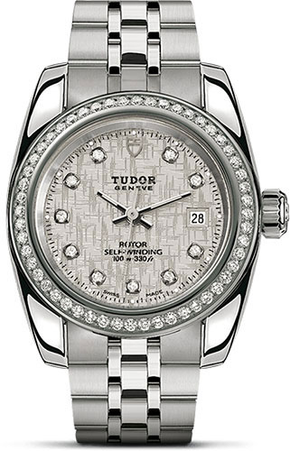 Tudor Watches - Classic Date 28 mm - Steel - Diamond Bezel - Style No: M22020-0003