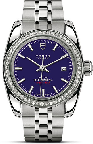 Tudor Watches - Classic Date 28 mm - Steel - Diamond Bezel - Style No: M22020-0008