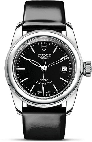 Tudor Watches - Glamour Date 26 mm - Steel - Leather Strap - Style No: M51000-0001