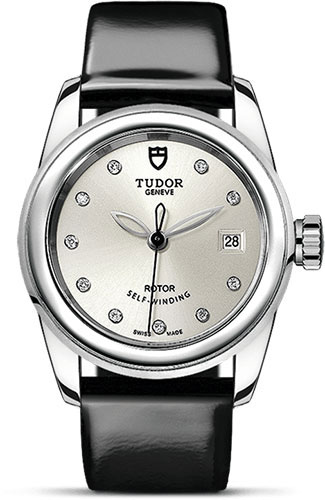 Tudor Watches - Glamour Date 26 mm - Steel - Leather Strap - Style No: M51000-0019