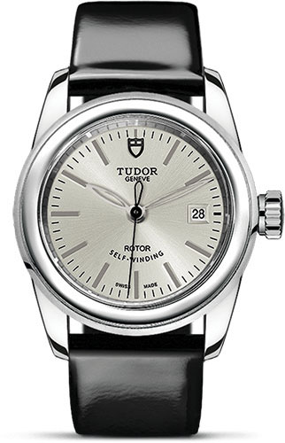 Tudor Watches - Glamour Date 26 mm - Steel - Leather Strap - Style No: M51000-0020