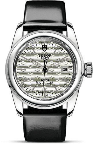 Tudor Watches - Glamour Date 26 mm - Steel - Leather Strap - Style No: M51000-0022