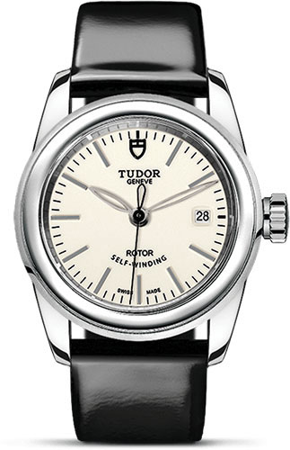 Tudor Watches - Glamour Date 26 mm - Steel - Leather Strap - Style No: M51000-0029