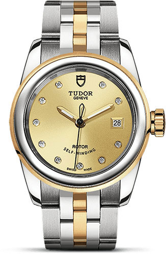 Tudor Watches - Glamour Date 26 mm - Steel and Gold - Bracelet - Style No: M51003-0003