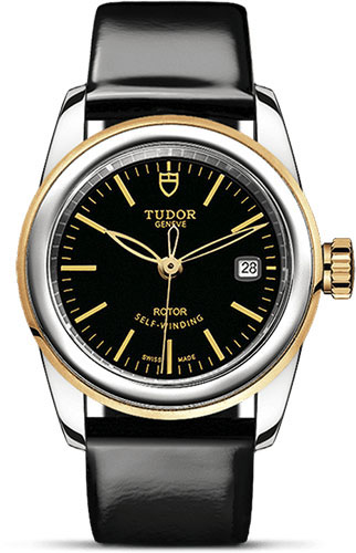 Tudor Watches - Glamour Date 26 mm - Steel and Gold - Leather Strap - Style No: M51003-0024