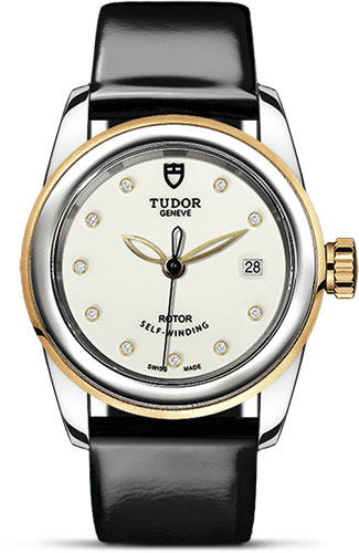 Tudor Watches - Glamour Date 26 mm - Steel and Gold - Leather Strap - Style No: M51003-0028