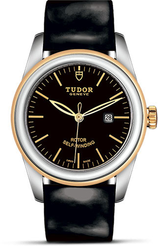 Tudor Watches - Glamour Date 31 mm - Steel and Gold - Leather Strap - Style No: M53003-0011