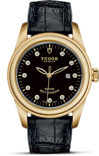Tudor Watches - Glamour Date 31 mm - Yellow Gold - Leather Strap - Style No: M53008-0011