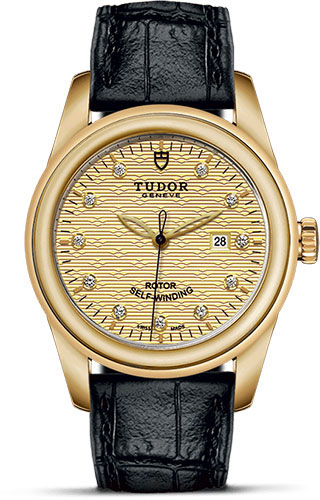 Tudor Watches - Glamour Date 31 mm - Yellow Gold - Leather Strap - Style No: M53008-0014
