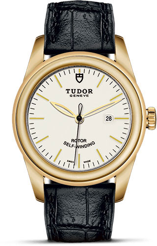 Tudor Watches - Glamour Date 31 mm - Yellow Gold - Leather Strap - Style No: M53008-0019