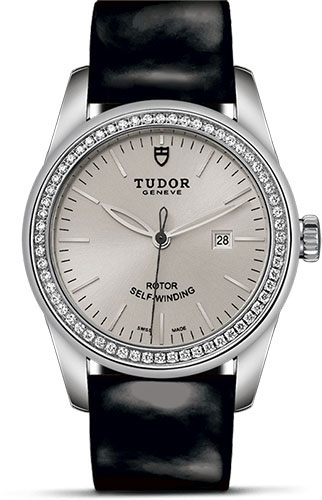 Tudor Watches - Glamour Date 31 mm - Steel - Dia Bezel - Leather Strap - Style No: M53020-0052