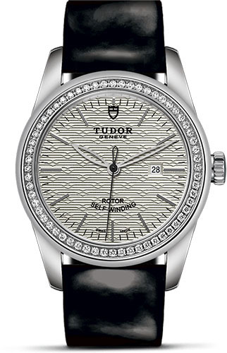Tudor Watches - Glamour Date 31 mm - Steel - Dia Bezel - Leather Strap - Style No: M53020-0054